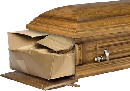 Traditional shape cardboard coffin cover